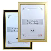 Quadro emoldurado para certificado liso 29.7x21 cm