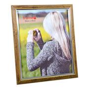 Porta Retrato de plástico marrom 20X25 cm