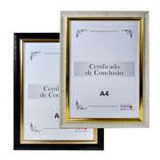 Quadro emoldurado para certificado 29.7x21 cm
