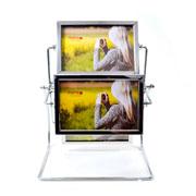 Porta retrato metal giratorio para 08 foto 15x10 cm