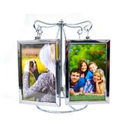Porta retrato metal pendulo para 08 fotos 10x15 cm