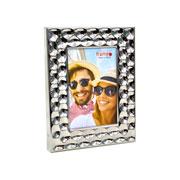 Porta retrato de metal bolhas 10x15 cm