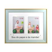 Porta retrato Baby colors para 2 fotos 10x15 cm