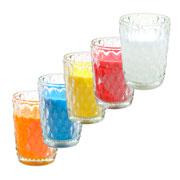 Castiçal copo com vela 09 cm