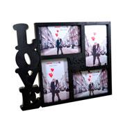 Porta retrato love colors para 04 fotos