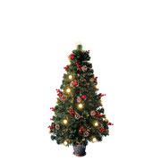 Árvore de natal decorada fibra ótica bivolt 1,20 metros