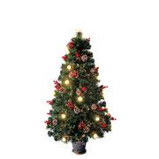 Árvore de natal decorada fibra ótica 1,50 metros