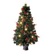 Árvore de natal decorada fibra ótica 1,80 metros