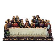 Enfeite Santa ceia resina 29x11x15 cm