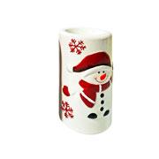 Enfeite de porcelana Castiçal Boneco 12 cm