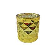 Castiçal de vidro colors 09 cm