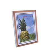 Porta retrato branco e cobre 10x15 cm