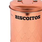 Porta mantimento lata cobre biscoito 20 cm