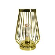 Luminária aramada dourada 8 leds 21 cm