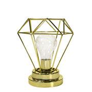 Luminaria aramada dourada/rose 8 leds 17 cm