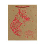 Sacola de papel Desenho natalinos colors 19,5x8x23 cm