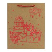 Sacola de papel Desenho natalinos colors 26x10x32 cm