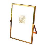 Porta retrato de ferro liso Dourado 15x20 cm