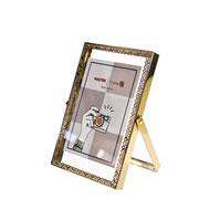 Porta retrato de ferro Renda Dourado 10x15 cm