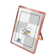 Porta retrato de ferro renda rose 13x18 cm