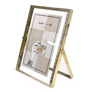 Porta retrato de ferro Renda Dourado 15x20 cm