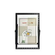 Porta retrato de ferro Renda Preto 10x15 cm