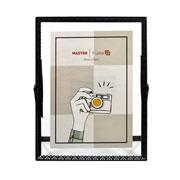 Porta retrato de ferro Renda Preto 15x20 cm