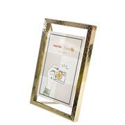 Porta retrato de ferro Ètnico Dourado 10x15 cm
