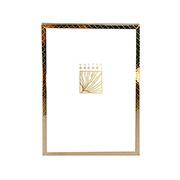 Porta retrato de ferro Ètnico dourado 13x18 cm