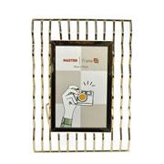 Porta retrato de ferro Zigue-Zague Dourado 10x15 cm