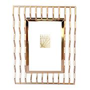 Porta retrato de ferro Zigue-Zague Dourado 13x18 cm