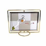 Porta retrato de ferro Girátorio dourado 18x13 cm