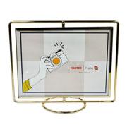 Porta retrato de ferro Girátorio Dourado 20x15 cm