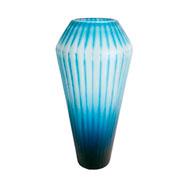 Vaso de vidro diamante azul 43 cm