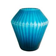 Vaso de vidro diamante azul 24 cm