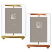 Porta retrato de metal e vidro colors 10x15 cm
