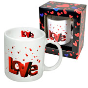 Caneca de cerâmica Love sortida 340 ml