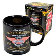 Caneca de cerâmica preta Harley Davidson 320 ml