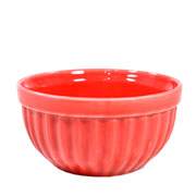 Tigela de cerâmica Italia vermelha 13 cm
