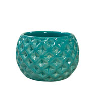Cachepot de cerâmica Bola tifani 09x07 cm