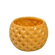 Cachepot de cerâmica Bola caramelo 09x07 cm