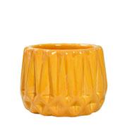 Cachepot de cerâmica Frisado caramelo 08x07 cm