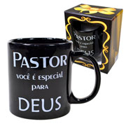 Caneca de cerâmica  evangelho Pastor 300 ml