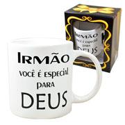 Caneca de cerâmica evangelho Irmão 300 ml