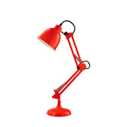 Luminária de mesa articulada vermelha 50 cm