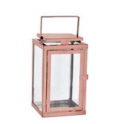 Lanterna em metal cobre 19x47 cm