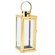 Lanterna em metal dourado 22x68 cm