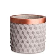 Cachepot em cimento cobre 16 cm