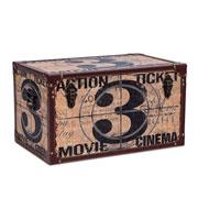 Baú de madeira Ticket 59x30 cm