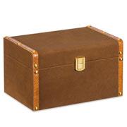 Caixa de madeira Marrom/dourado 23x16 cm